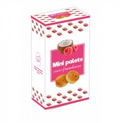 Mini palets coco framboise - boîte 200G