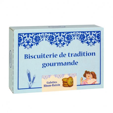 Galettes Rhum et raisins - Boîte carton 300g