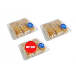 2 sachets de petits beurres achetés, le 3 ème OFFERT